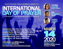 March 14 International Day of Prayer – Houston Bay Area Women's Ministry
