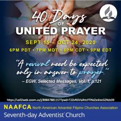NAAFCA 40 Days of United Prayer