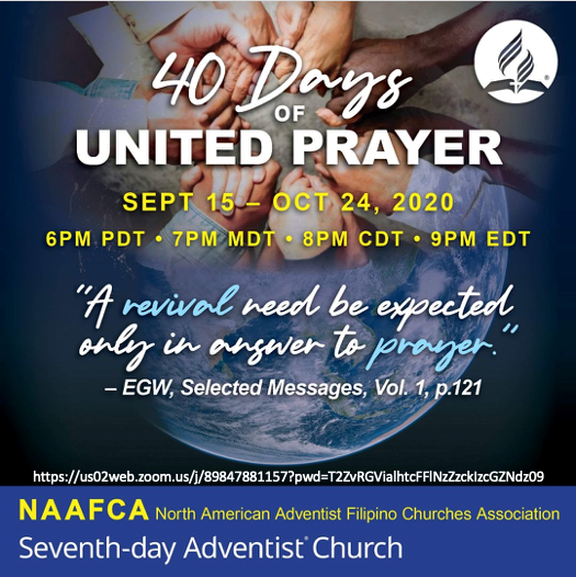 NAAFCA 40 Days of United Prayer