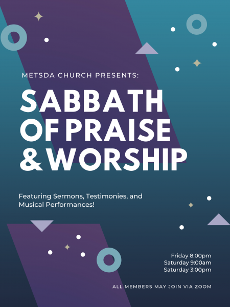 A Sabbath Celebration of Praise and Worship – December 25-26, 2020