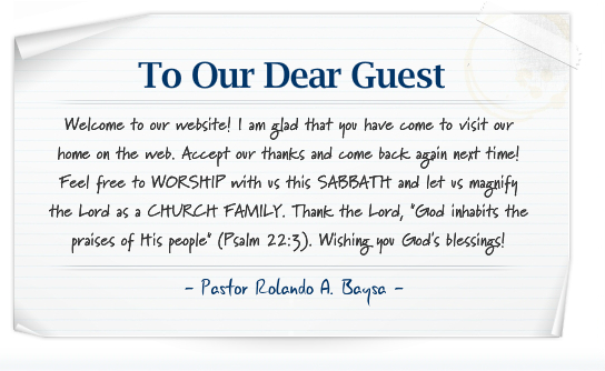 A Letter from our Pastor at Metropolitan Seventh-day Adventist Church (SDA Church Houston Texas)